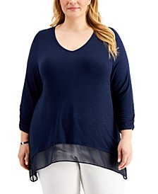 Plus Size Layered-Hem Tunic, Created for Macy's