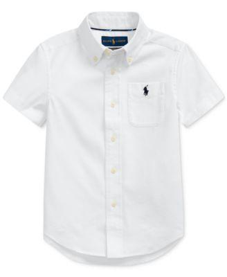 폴로 랄프로렌 Polo Ralph Lauren Toddler Boys Performance Oxford Shirt,White