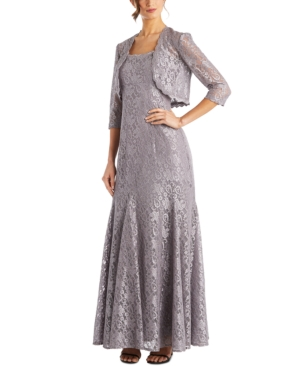1930s Evening Dresses | Old Hollywood Silver Screen Dresses R  M Richards Petite Lace Gown  Bolero $139.00 AT vintagedancer.com