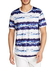Men's Performance Stretch Tie Dye Print Short Sleeve Crew Neck T-Shirt