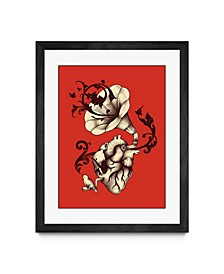 "Enkel Dika Listen to Your Heart Black Framed Print 20"" x 24"""