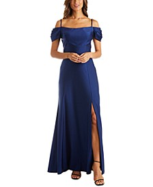 Petite Cold-Shoulder Gown