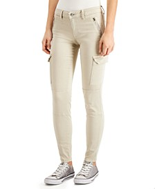 Mid-Rise Cargo Skinny Jeans