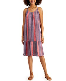 Petite Striped Tiered Midi Dress, Created for Macy's