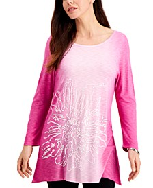 Sequin Ombre Asymmetrical-Hem Top, Created for Macy's