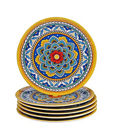 Certified International Portofino Melamine 6-Pc. Salad Plates