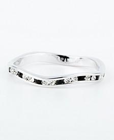 Swarovski Crystal Stackable ring in Sterling Silver