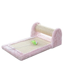 Rolling Cat Scratcher Toy, Sisal Scratching Board for Cats Training
