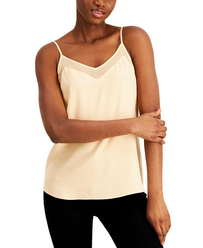 Calvin Klein X-Fit Slim-Fit Sheer-Trim Camisole