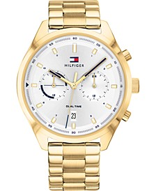 Men's Chronograph Gold-Tone Stainless Steel Bracelet Watch 44mm, Created for Macy's