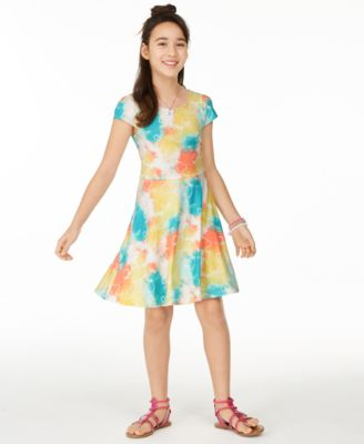 Big Girls Tie-Dye Printed Dress, Created for Macy's