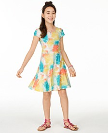 Big Girls Tie-Dye Printed Dress, Created for Macy's