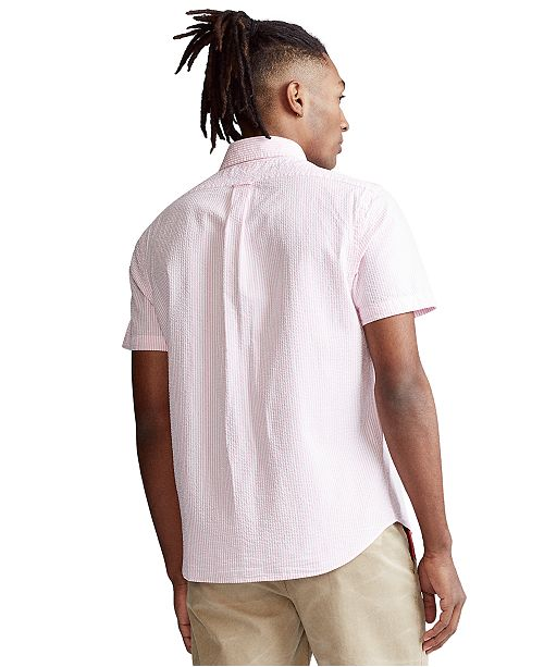 Polo Ralph Lauren Men S Classic Fit Seersucker Shirt Reviews