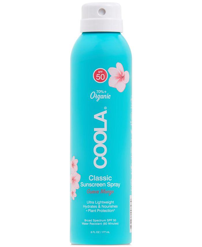 COOLA - Coola Classic Body Organic Sunscreen Spray SPF 50 - Guava Mango, 6-oz.