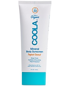Mineral Body Organic Sunscreen Lotion SPF 30 - Tropical Coconut, 5-oz.