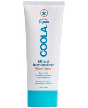 Mineral Body Organic Sunscreen Lotion Spf 30