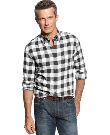 John ashford big and tall long sleeve buffalo plaid for Mens 4xlt flannel shirts