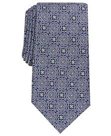 Men's Soana Medallion Silk Necktie, Created for Macy's