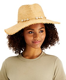 INC Frayed-Edge Panama Hat With Shell Band, Created for Macy's