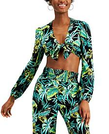 Tie-Front Crop Top, Created for Macy's