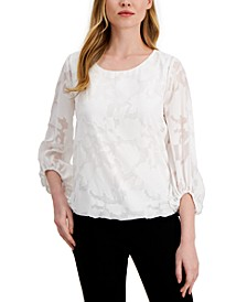 Jacquard Bubble Top, Created for Macy's