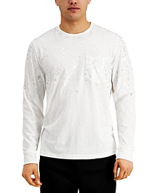 INC Men's Metallic Splatter Graphic Pocket T-Shirt, Created for Macy's