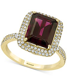 EFFY® Rhodolite Garnet (3-7/8 ct. t.w.) & Diamond (3/8 ct. t.w.) Statement Ring in 14k Gold