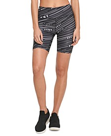 Sport Meterorite-Print High-Waist Bike Shorts