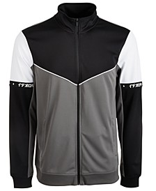 Men's Chevron Colorblocked Track Jacket, Created for Macy's