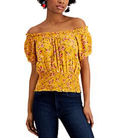 Self Esteem Juniors' Off-The-Shoulder Floral Top