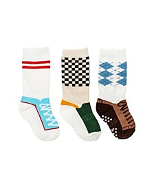 Baby Boys Mixed Shoe Knee Socks, Pack of 3