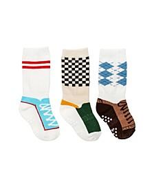 Baby Boys Mixed Shoe Knee Socks, Pack of 3