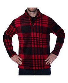 Men's Plaid Henley T-Shirt