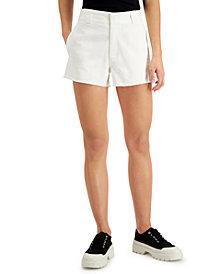 Dickies Juniors' Frayed Denim Shorts