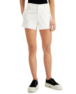 Juniors' Frayed Denim Shorts