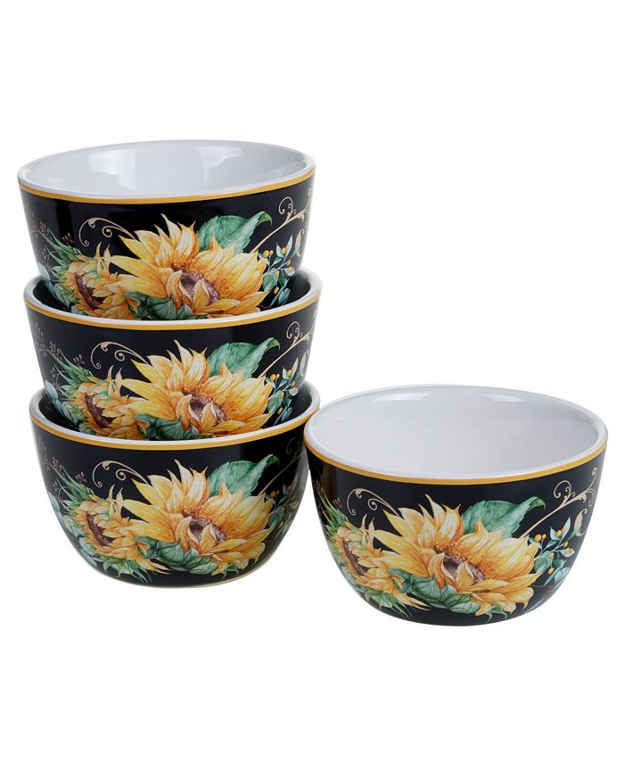 Tracy Porter - Sunflower Fields 4-Pc. Ice Cream Bowls