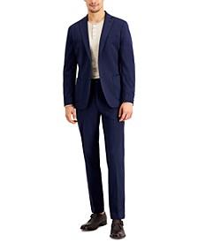 Men's Slim-Fit Stretch Navy Blue Suit Separates