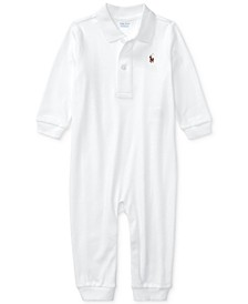 Baby Boys Cotton Interlock Polo Coverall