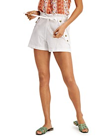 Juniors' Sailor-Button Shorts