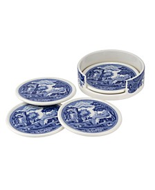 Blue Italian 5 PC Ceramic Coaster Set