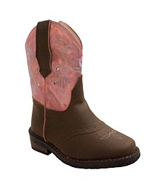 Toddler Girls Western Light Up Boot