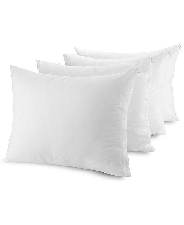 Mastertex Pillow Protectors, Queen - 4 Pieces