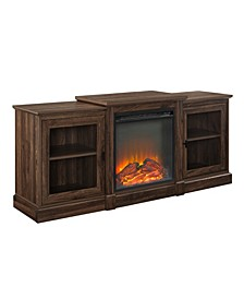 """60"""" Classic Tiered Top Fireplace TV Console"""