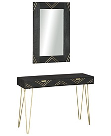 Coramont Console Table with Mirror - Set of 2