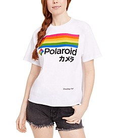 Juniors' Polaroid Logo Graphic T-Shirt
