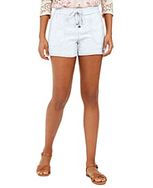 Petite Linen-Blend Pull-On Shorts, Created for Macy's