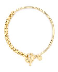 Sawyer 14K Gold Plated Toggle Bracelet