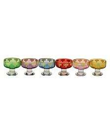 Dessert Bowls with 14K Gold Design, Set of 6
