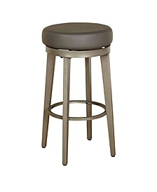 Angelo Home Linden Leather Swivel Stool Set of 2