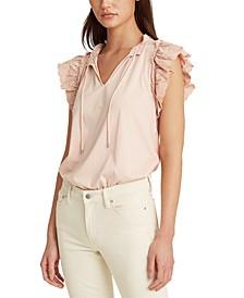 Ruffled Cotton Top